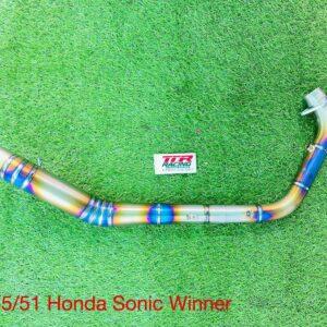 Cổ pô titan size 35 ra 51mm dành cho dòng xe Honda Winner Sonic
